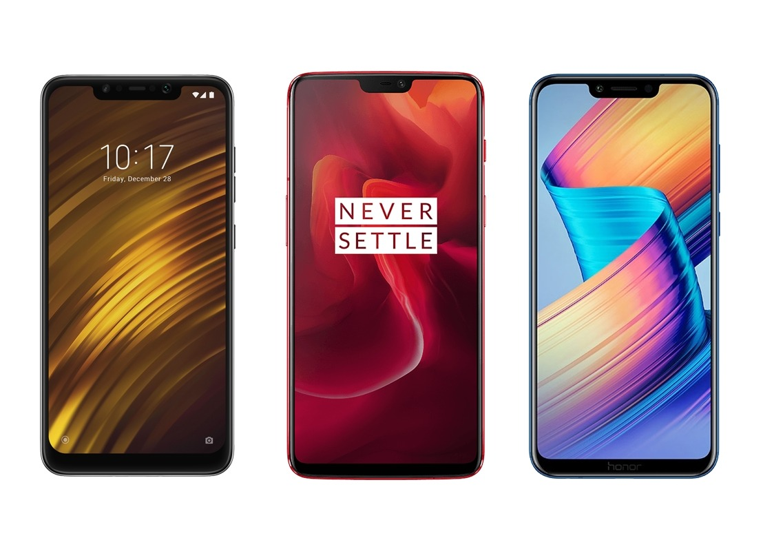 OnePlus 6T vs Honour 8x vs Xiaomi Mi A2 vs Poco F1: Detailed Comparison