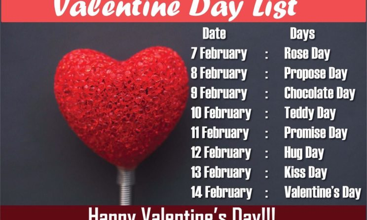 Valentines Day Week List 2019: Date Sheet & List Of February's Days Of Love