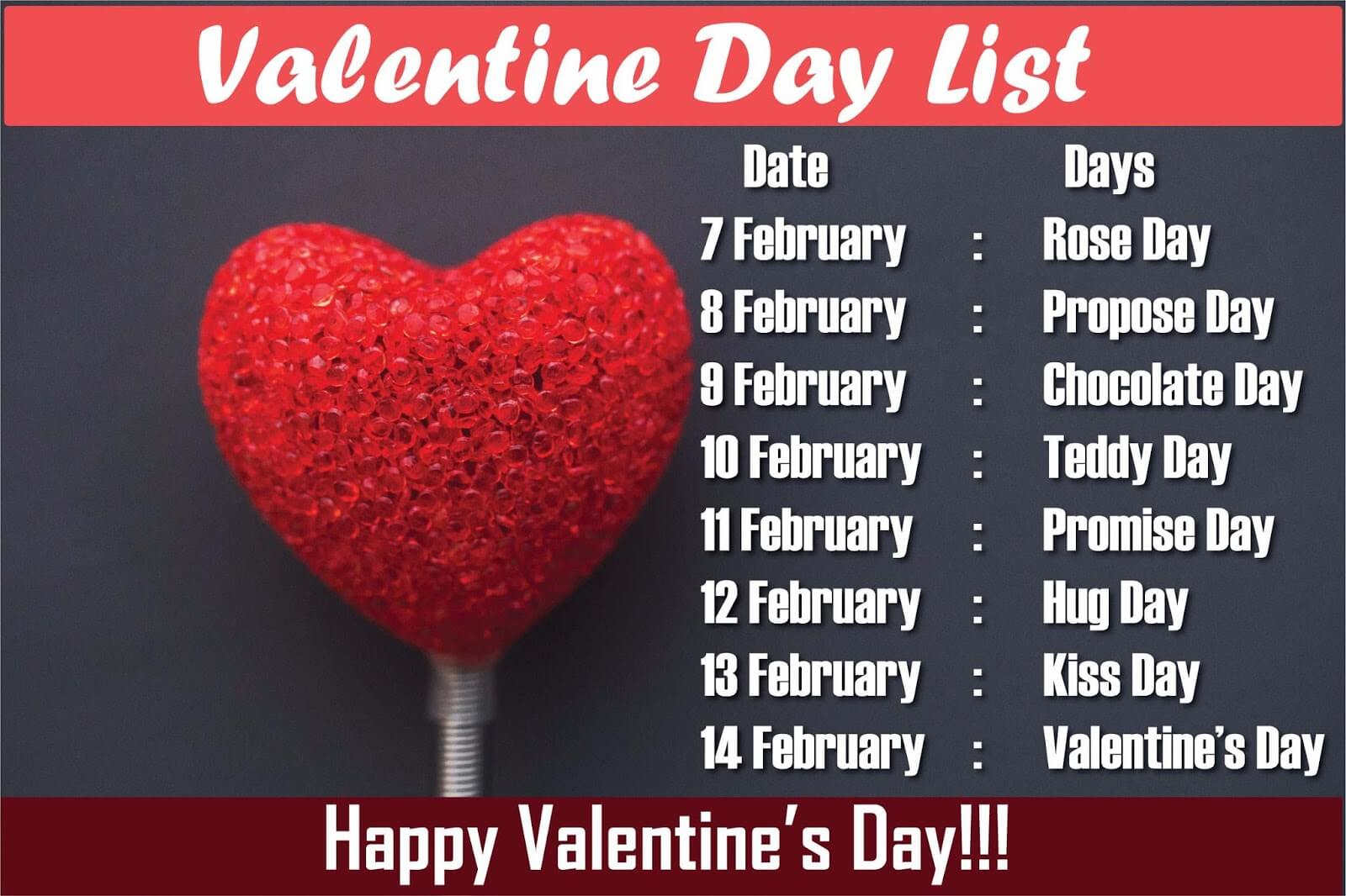 Valentines Day Week List 2019: Date Sheet & List Of February'sDays Of Love