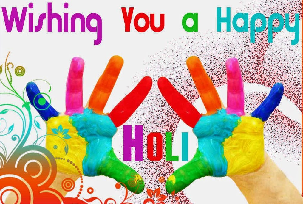 Happy Holi Images Greeting Wallpaper