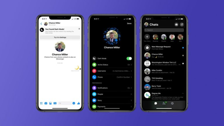 Here Is How To Enable The Dark Mode On Facebook Messenger!