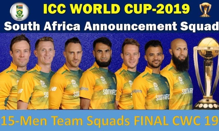 ICC Cricket World Cup 2019: South Africa Announced Final Squad, Chris Morris Misses Out
