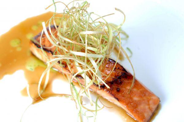 Salmon Fillet Glaze with Date Honey & Orange