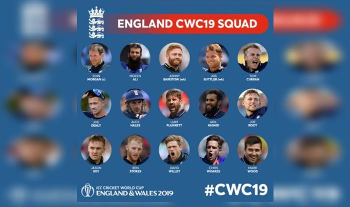 2019 ICC World Cup: England's Full Squad, Fixtures And Statistics