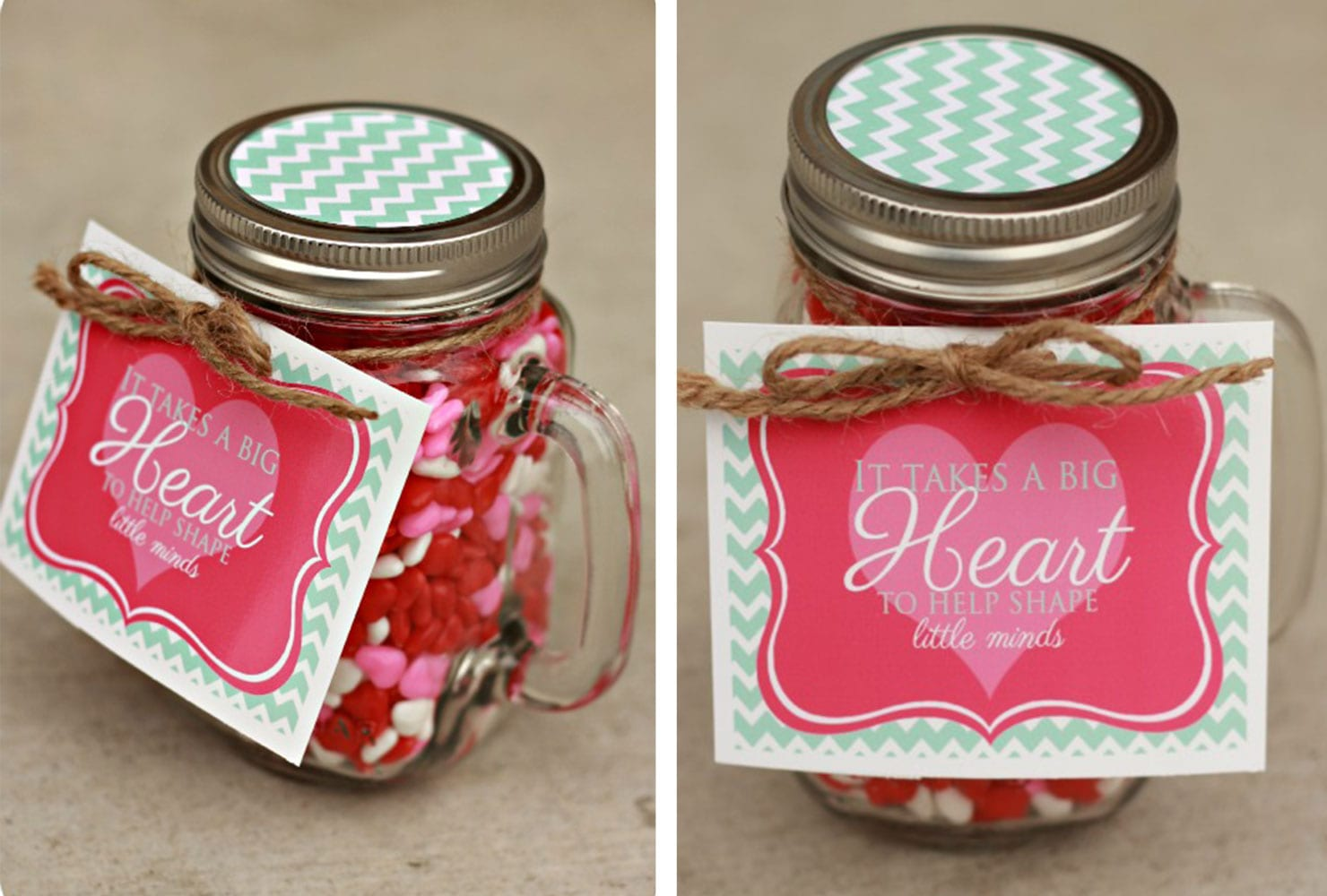 Heart Themed Jar