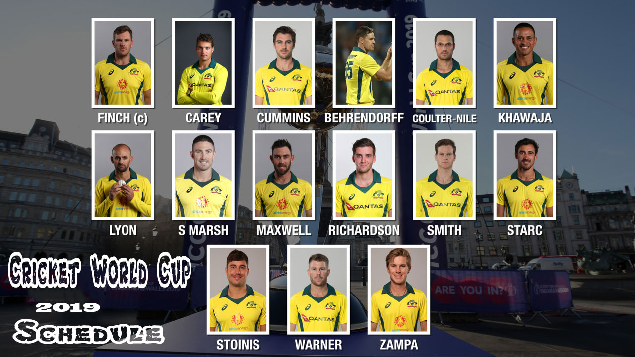 ICC World Cup 2019: Australia – Full Squad, Fixtures, Date, Timing And Venue