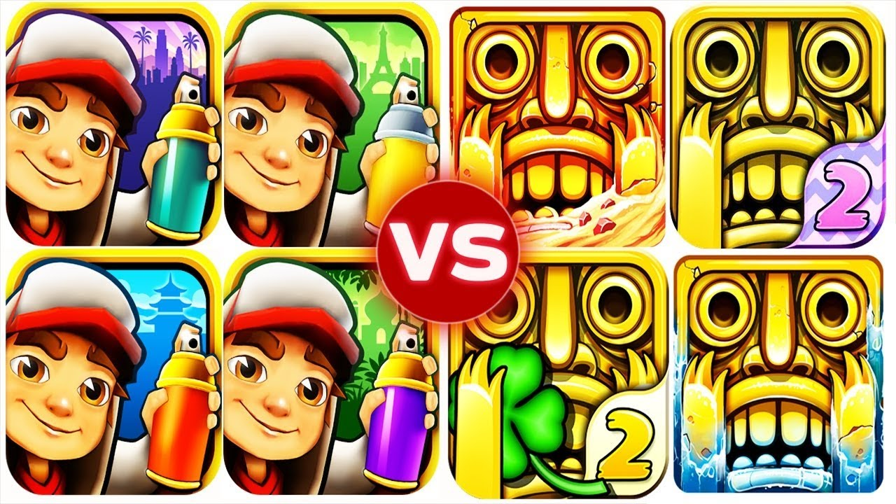 Subway Surfers vs Temple Run 2: Which Is The Best Endless Running Game?