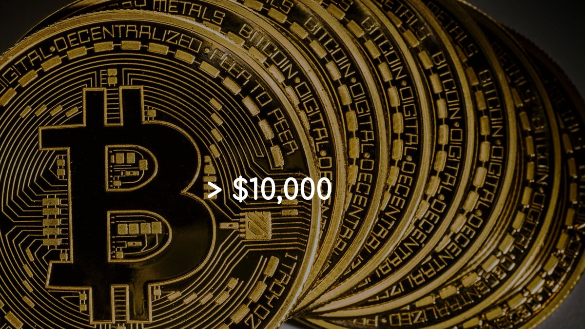 Bitcoin Crosses $10,000 Mark For The First Time In 15 Months