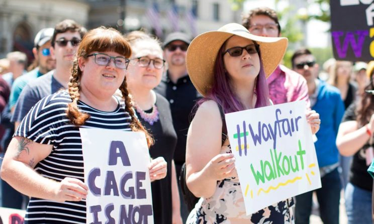 Wayfair Employees Walk Out To Protest Company's Furniture Supply To Migrant Detention Centre