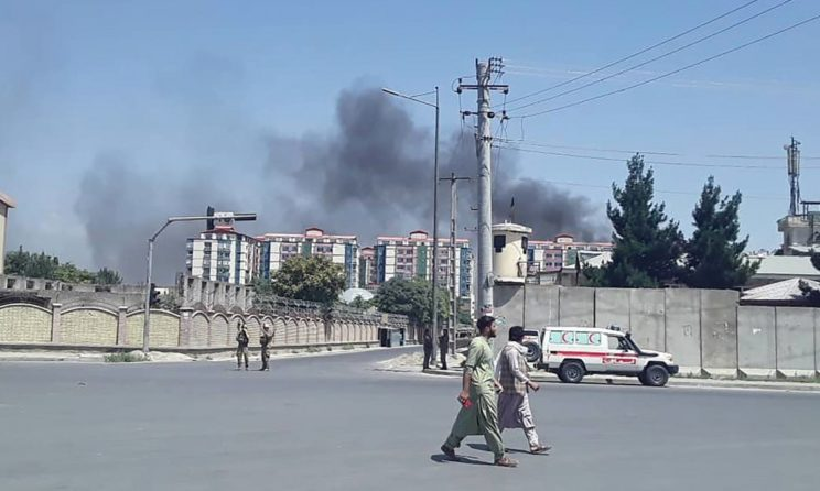 Deadly Bomb Blast And Firing Shook Afghan Capital, Leaving At Least 65 People Wounded