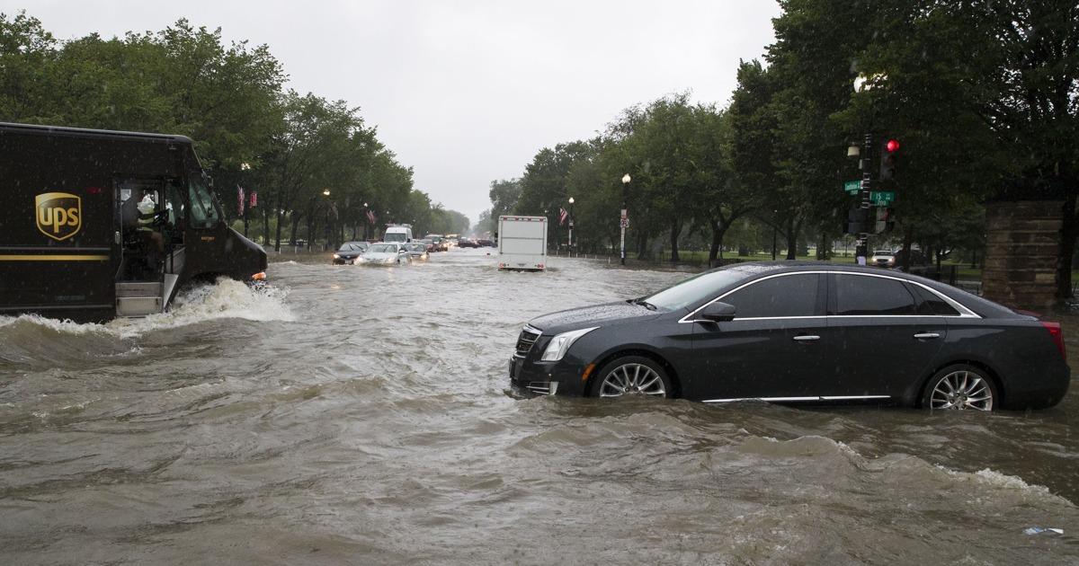 Washington Region Struck By Heavy Rain And Flash Floods Monday Morning