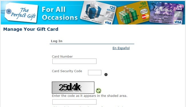 Check Your Visa And MasterCard Prepaid Card Balance At www.Mygiftcardsite.com